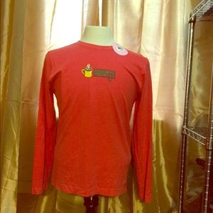 NWT Great Red Life is Good Long Sleeved Med top